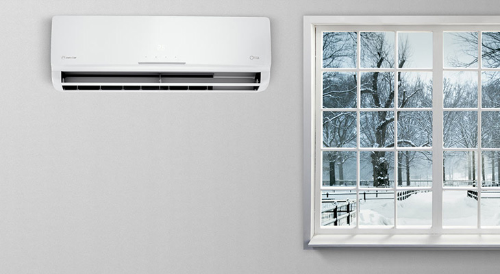 If during winter I use air conditioners only, will my house be heated enough?
