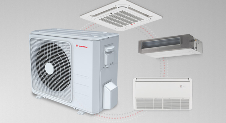 In multi split system air conditioners, the indoor units (heat pump type) should be the same (model, capacity, etc)?