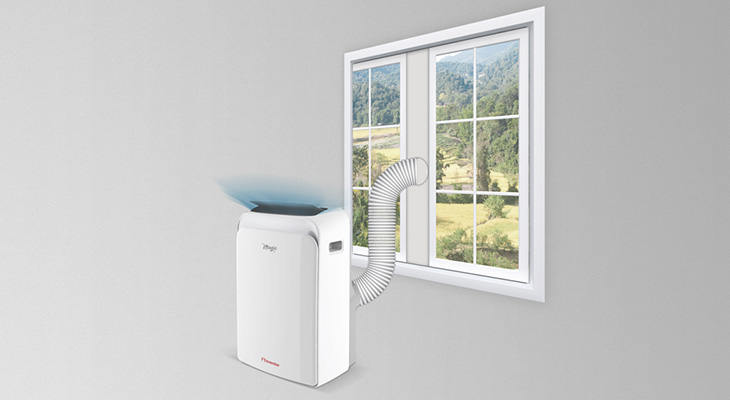 Portable air conditioners should be located near an open window?