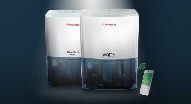 Noile dezumidificatoare din gama EVA II – EVA II PRO & EVA II PRO Wi-Fi