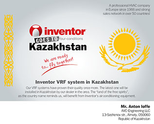 Inventor goes to Kazakhstan